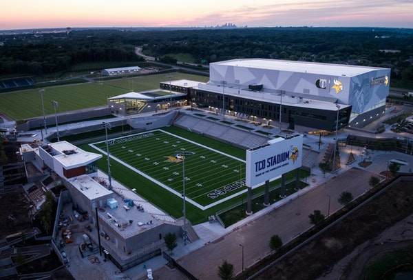The TCO Performance Center. ] AARON LAVINSKY � aaron.lavinsky@startribune.com Previewing Vikings training camp in Eagan with double-truck including
