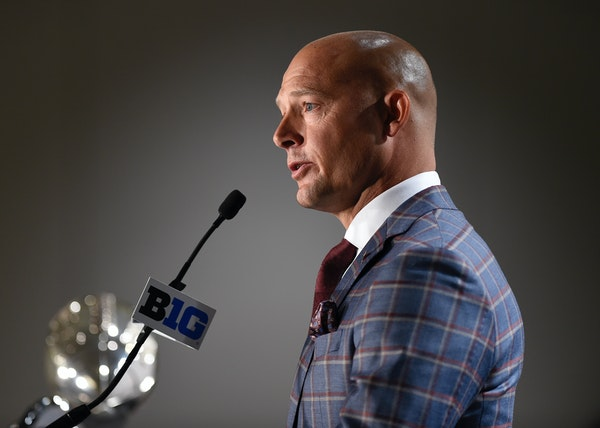 Second-year Gophers football coach P.J. Fleck told the Big Ten media that he is excited about his team, which has bought into his high expectations.
