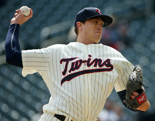 """Twins starter Kyle Gibson has a career-low 3.42 ERA this season. """"I was putting too much stress on myself,"""" he says, recalling his struggles befor"""