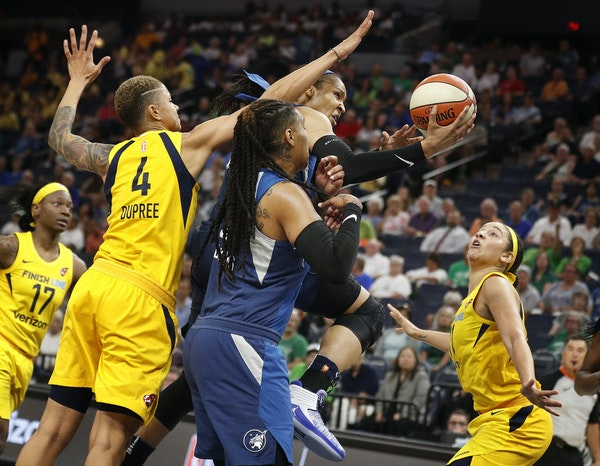 Lynx forward Maya Moore found her best offensive production close to the basket in a win over the Indiana Fever Wednesday.