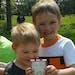 Taylor Johnson, 5, and Zachary Johnson, 8