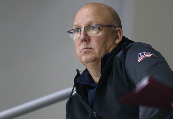 """Herb Brooks let a young Bob Motzko on his staff at St. Cloud State. """"And then I knew I wanted to coach,"""" Motzko said."""