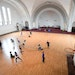 Twin Cities German Immersion School students played in the former Catholic church turned gymnasium.