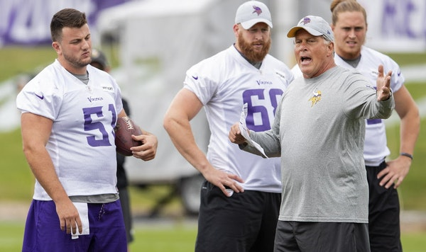 Tight ends coach Clancy Barone will become one of two co-offensive line coaches in the wake of Tony Sparano's death, the Vikings announced Saturday,
