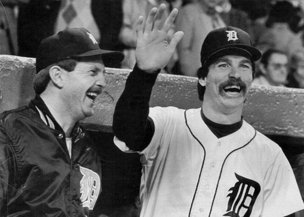The Detroit Tigers' one two punch, Jack Morris, right, and Dan Petry in 1984.