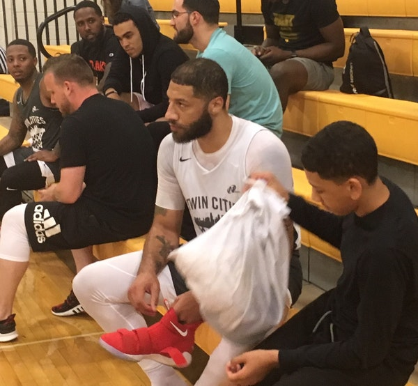 Former Hopkins High School standout Royce White after Monday's game in the Twin Cities Pro Am Summer League.