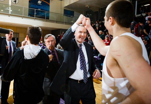 St. Thomas head coach Johnny Tauer, in 2016