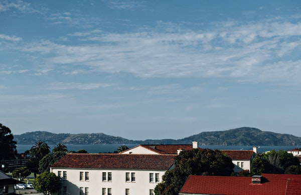 The Presidio is surrounded on three sides by water (both the Pacific Ocean and San Francisco Bay), making it a scenic respite from the hustle and bust