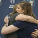 Minnesota Lynx Head Coach Cheryl Reeve hugged guard Lindsay Whalen after Whalen announced her retirement during a press conference.