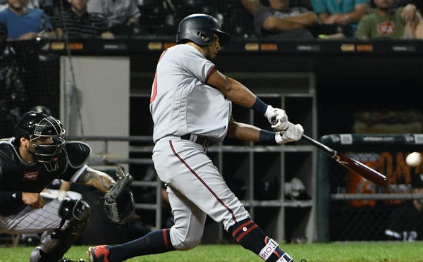 Eddie Rosario hit an RBI-single against the Chicago White Sox during the ninth inning Tuesday.