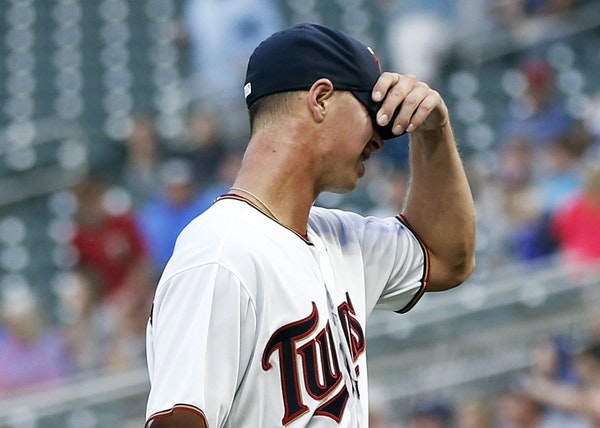 Twins starter Stephen Gonsalves, making his major league debut against the White Sox, headed to the dugout after pitching only 1⅓ innings Monday nig