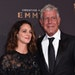 Asia Argento, left, and Anthony Bourdain arrive at night one of the Creative Arts Emmy Awards at the Microsoft Theater on Saturday, Sept. 9, 2017, in