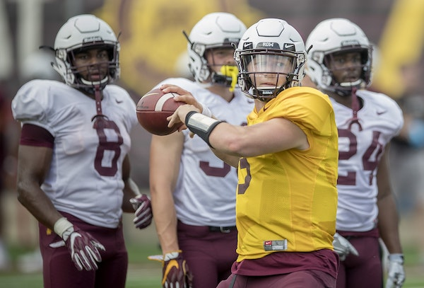 True freshman Zack Annexstad was named the Gophers' starting quarterback by coach P.J. Fleck for the Aug. 30 season opener against New Mexico State.