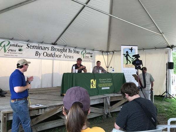 Environmental and recreational issues were the focus Saturday at Game Fair where Minnesota candidates for governor Tim Walz and Jeff Johnson debated.