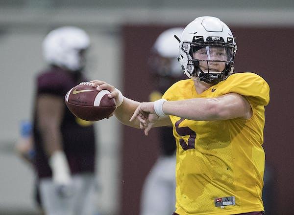 Minnesota's quarterback Zack Annexstad is from Norseland, Minn., a small community near Mankato.