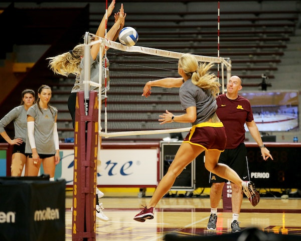 The Gophers volleyball team, ranked No. 4, opens the season this weekend hosting matches in the Big Ten/ACC Challenge. Wisconsin, North Carolina and F