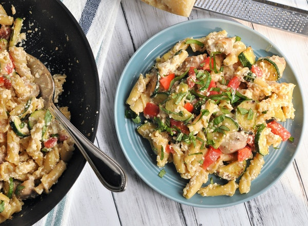 Skillet Chicken, Zucchini and Ricotta Pasta. Meredith Deeds • Special to the Star Tribune