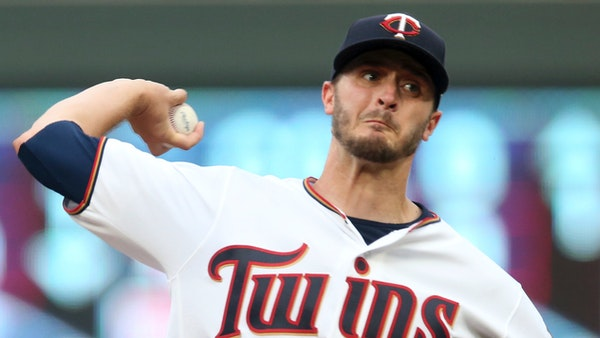 Minnesota Twins pitcher Jake Odorizzi throws against the Pittsburgh Pirates in the first inning of a baseball game Tuesday, Aug. 14, 2018, in Minneapo