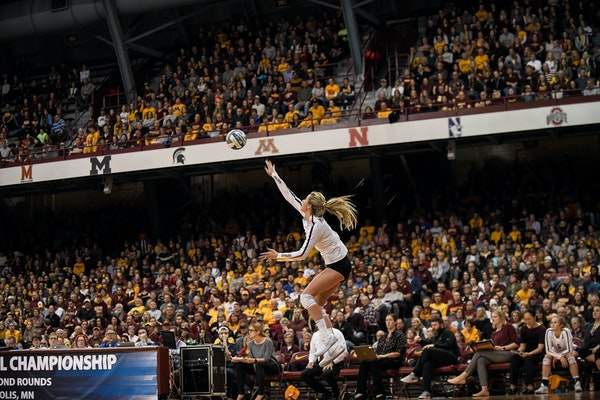 """Samantha Seliger-Swenson and the Gophers volleyball team are drawing well, as are many of the program's so-called """"nonrevenue"""" sports."""