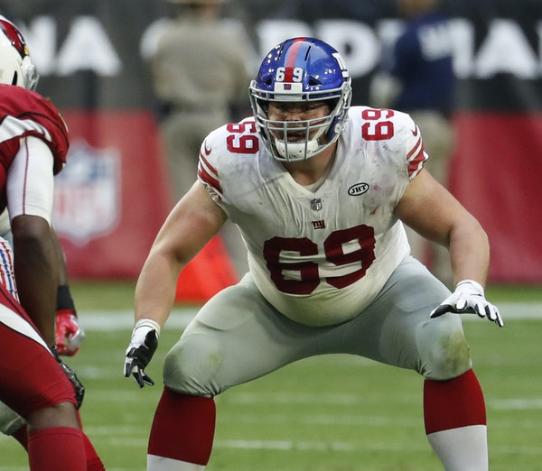 Brett Jones had been competing for the Giants' starting center job. He made 13 starts last season: 12 at center and one at guard. The Vikings gave u