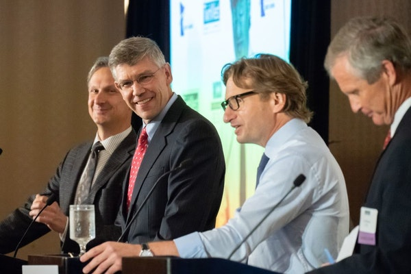 GOP Rep. Erik Paulsen and DFL challenger Dean Phillips squared off Tuesday in their first debate for a seat in Congress from Minnesota's Third Distric