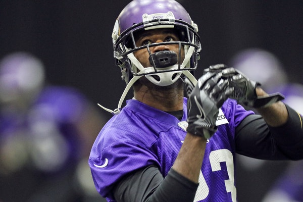 Terence Newman warmed up before a Vikings game late last season.