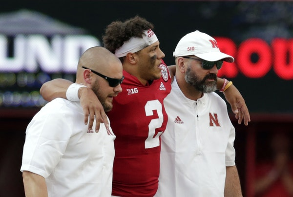 Nebraska lost it's first game, to Colorado, and may have lost its quarterback for awhile in the process. Adrian Martinez was injured last Saturday a