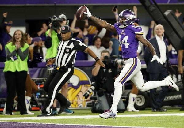 Vikings receiver Stefon Diggs has the speed NFL teams covet.