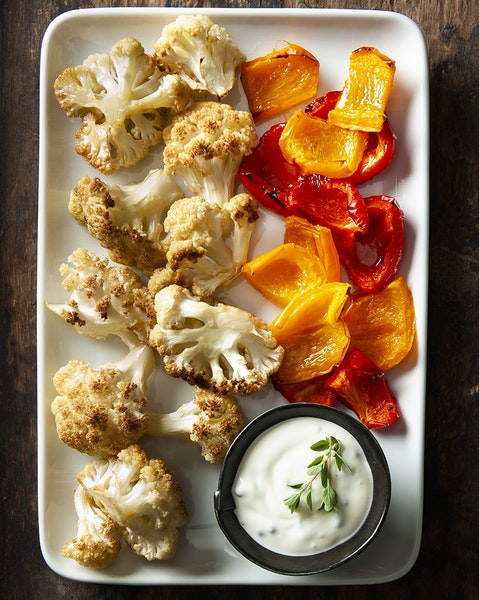 Cauliflower and Peppers.