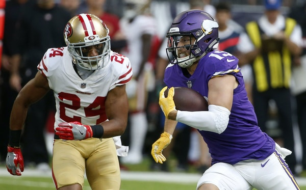 Minnesota Vikings wide receiver Adam Thielen was just one benefactor of the creative formations utilized by Vikings offensive coordinator John DeFilip