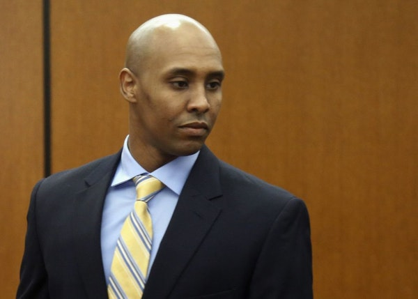In this May 8, 2018, file photo, former Minneapolis police officer Mohamed Noor arrives at the Hennepin County Government Center for a hearing in Minn