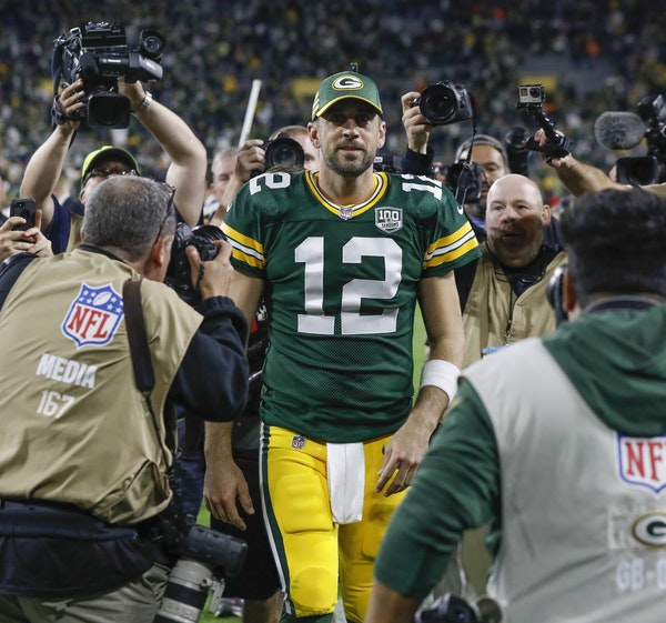 Aaron Rodgers caught Mike Zimmer's eye early, during a preseason game in 2008.