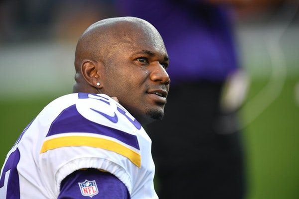 Minnesota Vikings cornerback Terence Newman warms up before an NFL football game against the Denver Broncos Saturday, Aug. 11, 2018, in Denver. (AP Ph