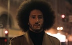 Colin Kaepernick in a screen shot from Nike's new ad, Wednesday, Sept. 5, 2018.