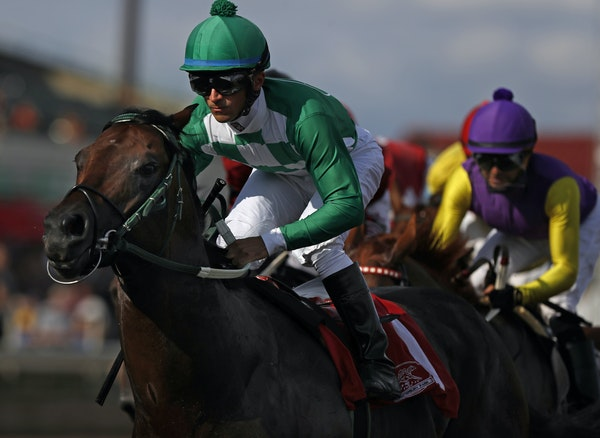 Mr. Jagermeister, ridden here by Leandro Goncalves, captured horse of the year, along with top 3-year-old colt and sprinter. (1) was the prohibitive f