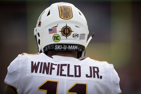Gophers defensive back Antoine Winfield Jr. is expected back in 2019 after his 2018 season was cut short by injury.