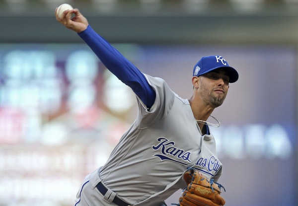 Kansas City Royals pitcher Jorge Lopez was perfect through eight innings on Saturday night.