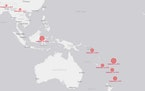 Map: World earthquakes