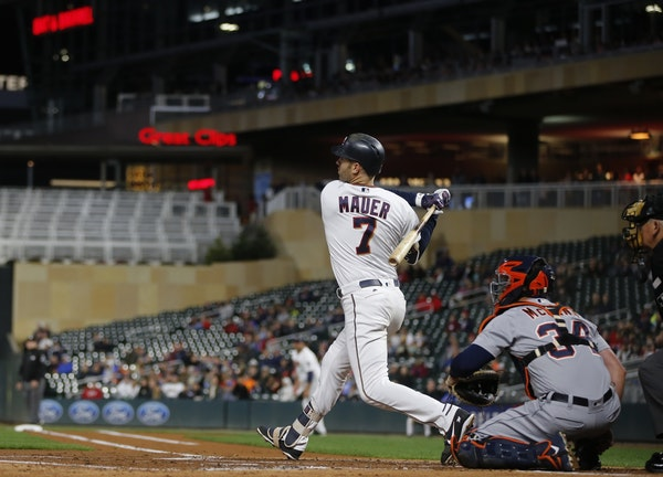 Joe Mauer passed Harmon Killebrew for most times on base with this hit .