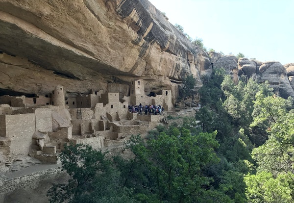 Guided tours of Cliff Palace, the largest cliff dwelling in Mesa Verde National Park in Colorado, are available from spring through fall.