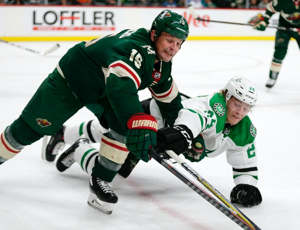 Forward Matt Hendricks, who signed a one-year, $700,000 contract with the Wild in July, has stood out in preseason play for his work ethic on the ice.