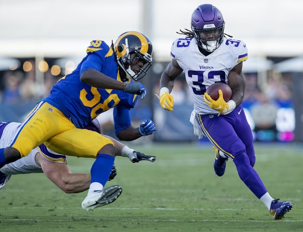 Dalvin Cook had 10 carries for 20 yards against the Rams on Thursday.