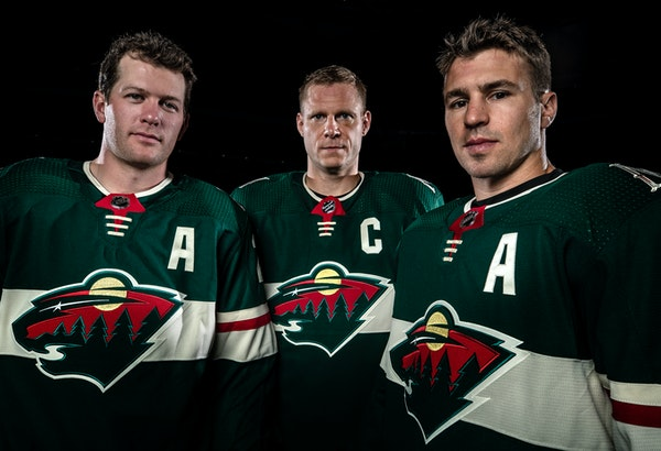The Wild's leaders, from left Ryan Suter, Mikko Koivu and Zach Parise, know that the team had to have a better season or the core group of players c