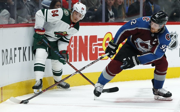 Mikael Granlund and the Wild lost their season opener 4-1 to Colorado and Gabriel Landeskog on Thursday.
