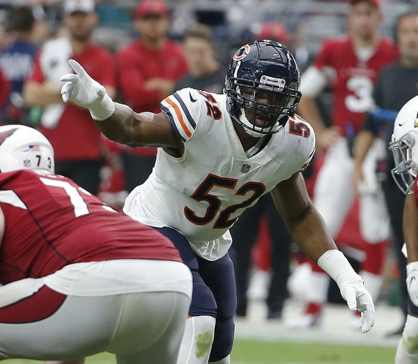 Only two defensive players have ever been named MVP, including the Vikings' Alan Page in 1971, but the disruptive play of Bears linebacker Khalil Ma
