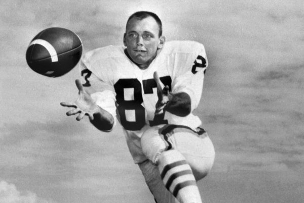 In 1961, Charlie Hennigan set a record with seven consecutive games with 100 receiving yards.
