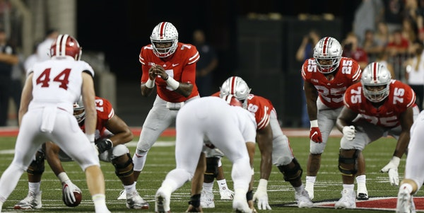 Ohio State quarterback Dwayne Haskins leads an offense averaging 49 points per game. He has thrown 25 TD passes and completes nearly 72 percent of his