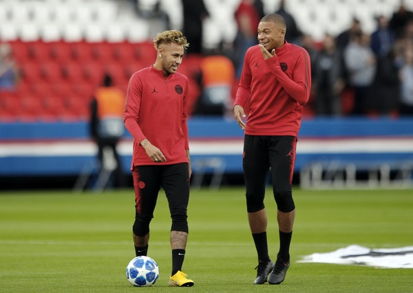 Paris Saint-Germain's acquistion of forwards Neymar Neymar, left and Kylian Mbappe in 2017 represented at the time the two biggest signings in soccer