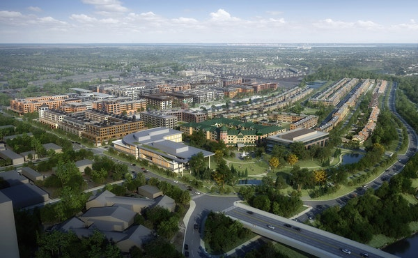 Ryan Cos. unveiled its concept for the Ford Site Master Plan in St. Paul during a neighborhood presentation at Highland Park Middle School on Wednesda