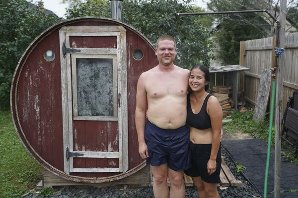 When Christopher and Julie Rice took a sauna together, something clicked, they said. Three years later, the Rochester couple have created a large saun